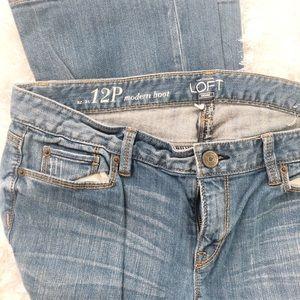Ann Taylor Loft modern boot cut jeans